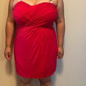 Express red dress ! Only worn once !